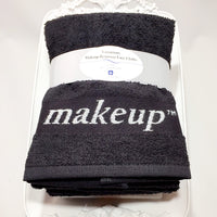 Black Turkish Terry Face Towels for Makeup Removal
