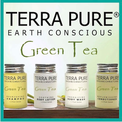 Guest Outfitters Terra Pure Green Tea Bath Toiletries for Vacation Rentals