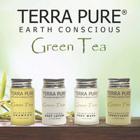 Terra Pure Green Tea Shampoo | 10.14oz Retail Sizes for Vacation Rentals B&B Inns | GuestOutfitters.com