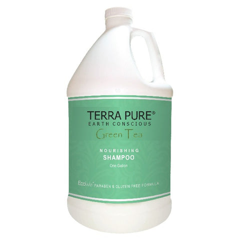 Terra Pure Green Tea Shampoo, Gallons | Airbnb VRBO B&B Soap Dispenser Refills | GuestOutfitters.com