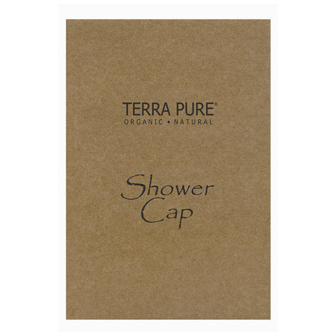 Terra Pure Green Tea Spa Shower Cap | GuestOutfitters.com Hotel Size Amenities