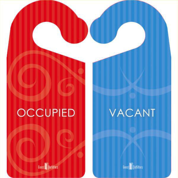 Privacy Door Hanger Signs Occupied Or Vacant Airbnb