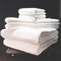 Welington Bath Towel Sets by Welspun, Luxurious 100% White Combed Cotton