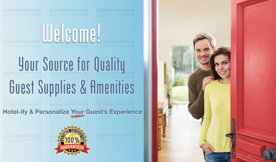 Affordable Hospitality Supplies and Amenities for Airbnb, HomeAway, VRBO and Turnkey Vacation Rentals | GuestOutfitters.com