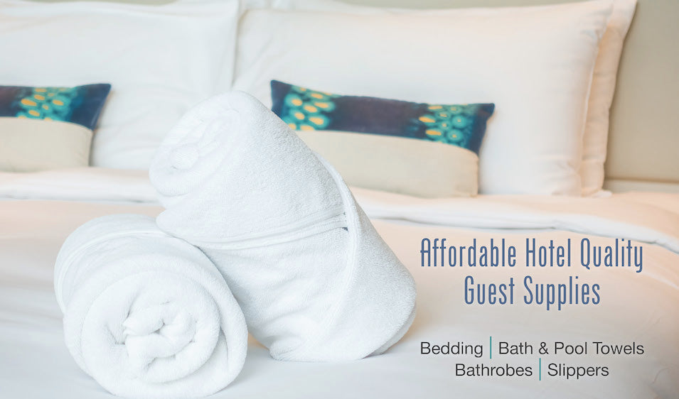 Affordable Hotel Bath Towels and Bedding for Airbnb, HomeAway, VRBO and Turnkey Vacation Rentals