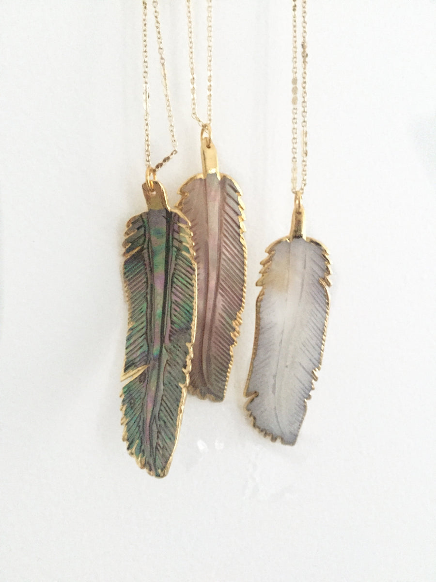 Shell Feather Necklace