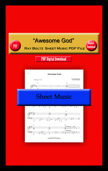 """Awesome God"" Ray Boltz Sheet Music PDF File"