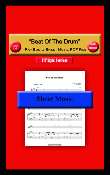 """Beat Of The Drum"" Ray Boltz Sheet Music PDF File"