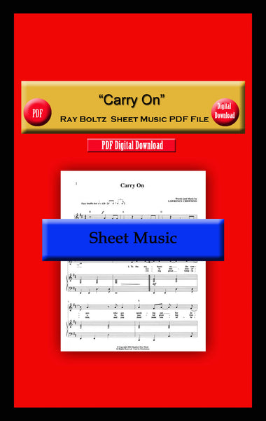 """Carry On"" Ray Boltz Sheet Music PDF File"