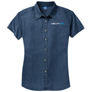 Ability360 - Womens Short Sleeve Denim Shirt (LSP11)