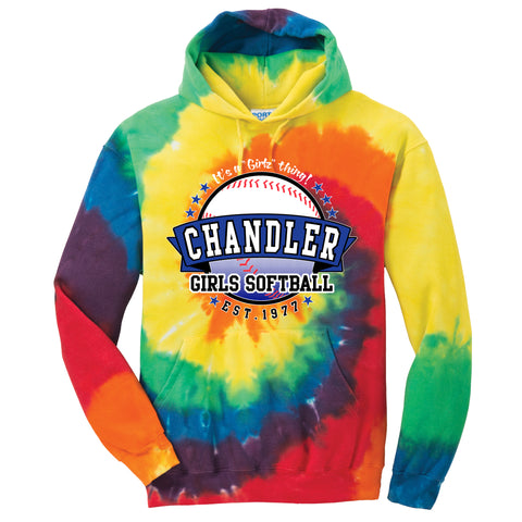 Youth Chandler Girls Softball Tie-Dye Sweatshirt