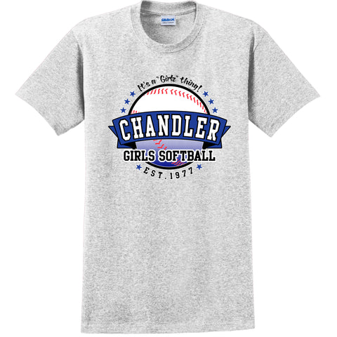 Adult Chandler Softball Fan T