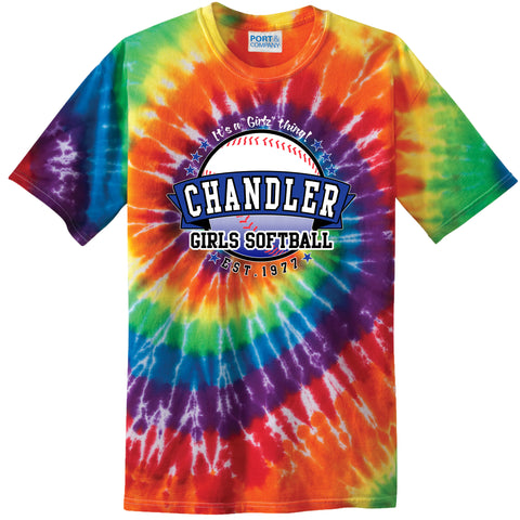 Adult Chandler Girls Softball Tie-Dye Tee