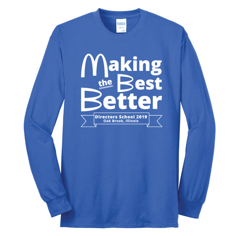 NRPA Oak Brook Making the Best Better - Long Sleeve Core Blend Tee (PC55LS) (2019)