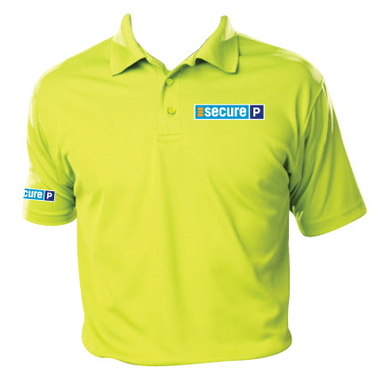 Secure Parking - Yellow ANSI Ambassador Polo (BG7300)