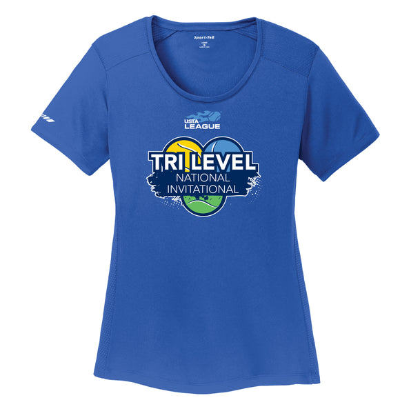 USTA Tri Level <br> Womens Posicharge Tee <br> (LST380)