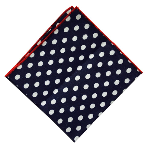 Red Lip Large Poker Dot Pocket Square - Resso Roth