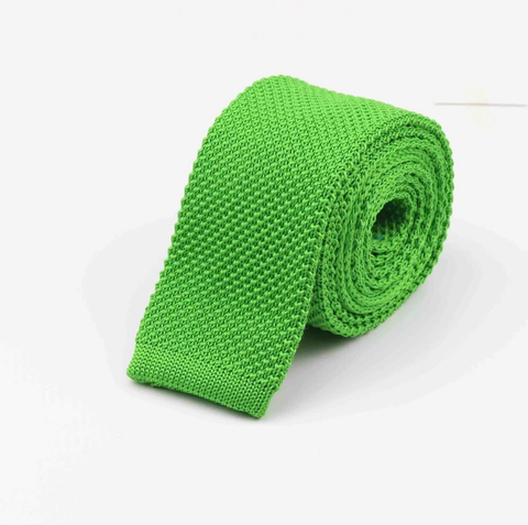 """The Lime"" Skinny Knit Tie - Resso Roth"