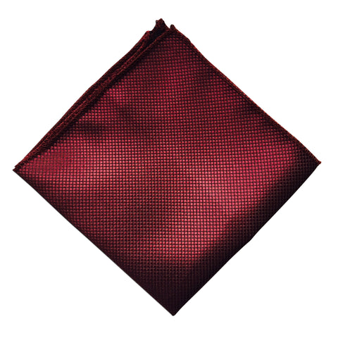 Herringbone Burgundy Pocket Square - Resso Roth