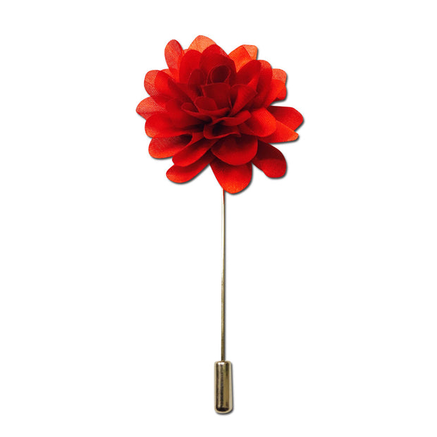 Red Flower Lapel Pin Boutonniere - Resso Roth