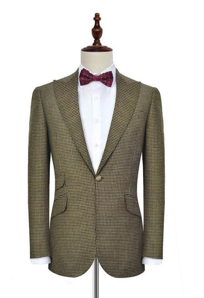 c093a092b7 Houndstooth Wide-Lapel Suit - Resso Roth