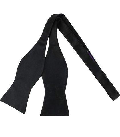 "Black Silk Self-tie Evening Bow Tie - ""The Classic"""