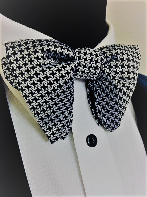 Houndstooth Silk Evening Bow Tie - The Butterfly