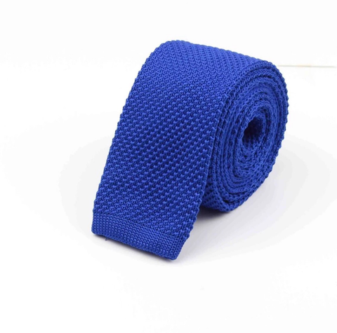 """The Royalty"" Skinny Knit Tie - Resso Roth"