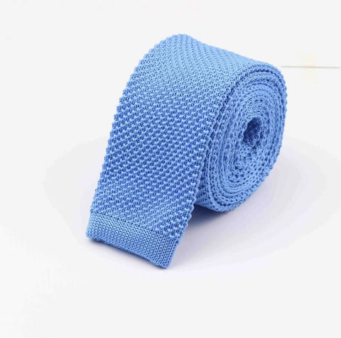 """The Clouds"" Skinny Knit Tie - Resso Roth"