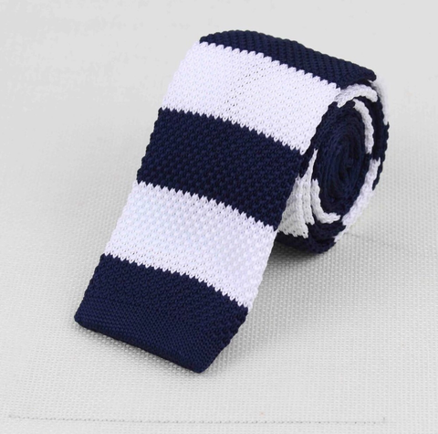 """The Head Captain"" Skinny Knit Tie - Resso Roth"