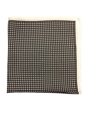 Silk Houndstooth Pocket Square