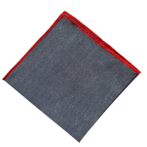 Grey Red Lip Pocket Square - Resso Roth