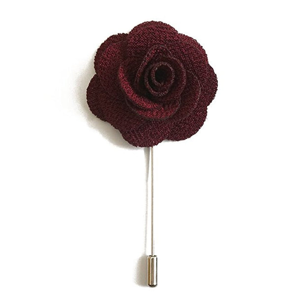 Dark Purple Flower Lapel Pin Boutonniere - Resso Roth