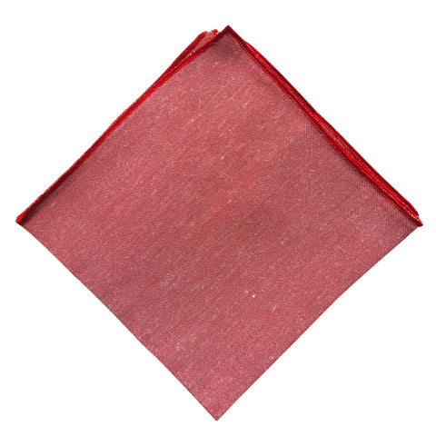 Red/Blush Red Lip Pocket Square - Resso Roth