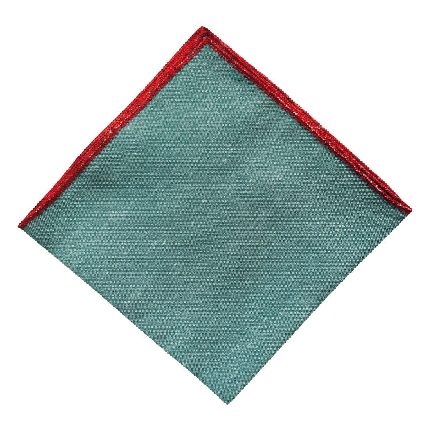Green Red Lip Pocket Square - Resso Roth