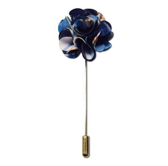 Blue Multi Lapel Pin Boutonniere - Resso Roth