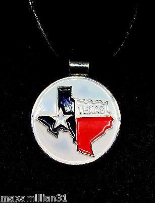 Golfer's Magnetic Golf Ball Marker Necklace - Texas State Map - My Greater Shop
