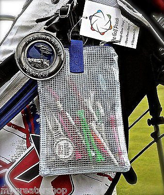 The Golf Pouch, South African Flag, Clear See Through Pouch for Golf Accessories - My Greater Shop