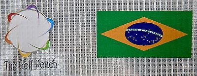 The GOLF POUCH, BRAZIL FLAG, See Through Pouch for Golf Accessories. USA Shop! - My Greater Shop