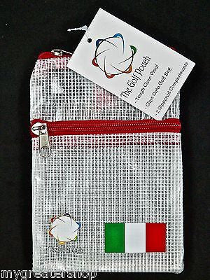 The GOLF POUCH, ITALIAN FLAG - My Greater Shop