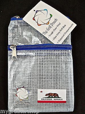 The GOLF POUCH, CALIFORNIA FLAG, See Through Pouch for Accessories. USA Shop! - My Greater Shop