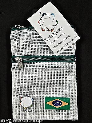 The GOLF POUCH, BRAZILIAN FLAG - My Greater Shop