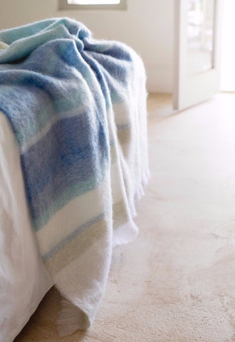 MOHAIR WOOL THROW by Hinterveld. BEAUTIFUL STORY- THE LIGHTHOUSE. South African. - My Greater Shop