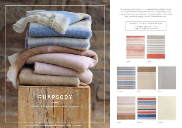 "Hinterveld ALPACA & SILK THROW. Rhapsody ""Mandolin"". Hand Woven in South Africa! - My Greater Shop"