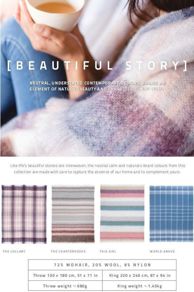 "MOHAIR WOOL THROW by Hinterveld. BEAUTIFUL STORY- ""GET LUCKY"". African Imported - My Greater Shop"
