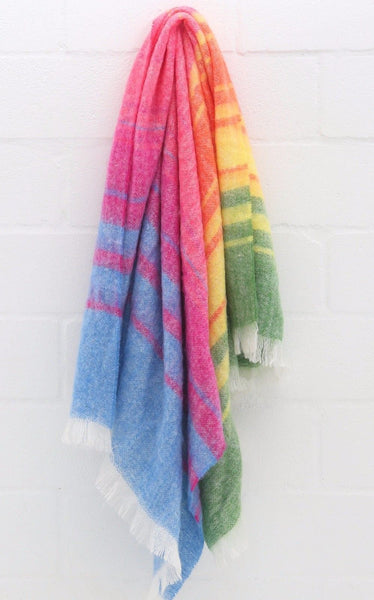 "MOHAIR WOOL THROW by Hinterveld. BEAUTIFUL STORY- ""ALL THE EARTH"" - My Greater Shop"