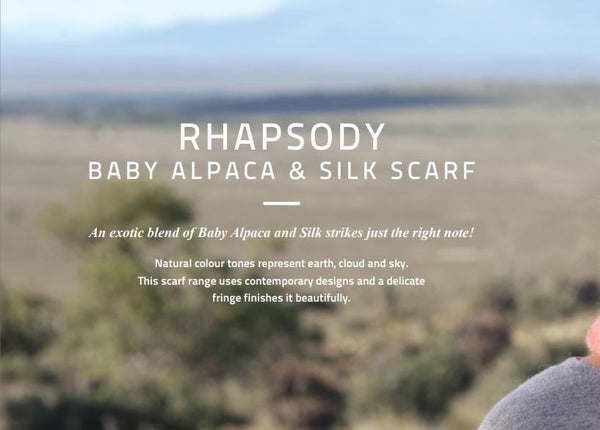 Hinterveld RHAPSODY ALLEMANDE SCARF. Alpaca & Silk, Hand Made in South Africa! - My Greater Shop