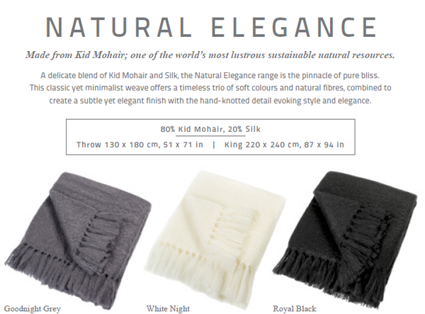 "Exquisite Hinterveld White LUXURY MOHAIR Throw ""Natural Elegance"". Hand Made in South Africa. - My Greater Shop"