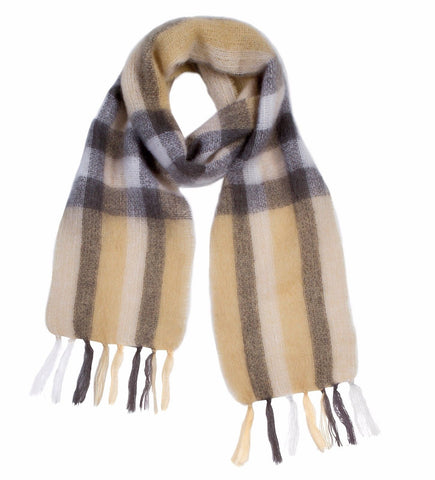 Hinterveld MOHAIR WOOL Scarf. Superfine - Long Goodbye Design. South African. - My Greater Shop