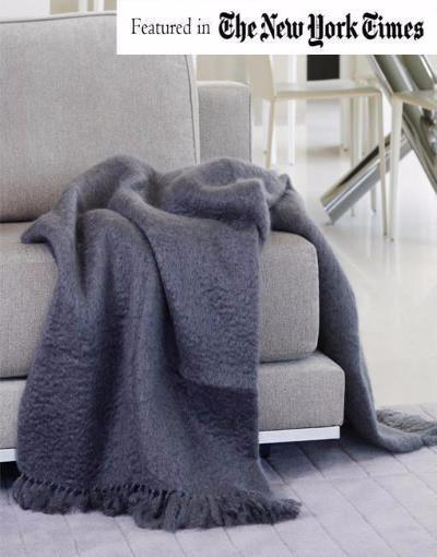 "Exquisite Hinterveld Gray LUXURY MOHAIR THROW ""Natural Elegance"". Hand Made in South Africa - My Greater Shop"